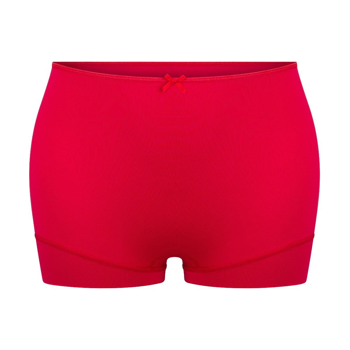 RJ Pure Color Dames Short Extra Hoog Donkerrood XL