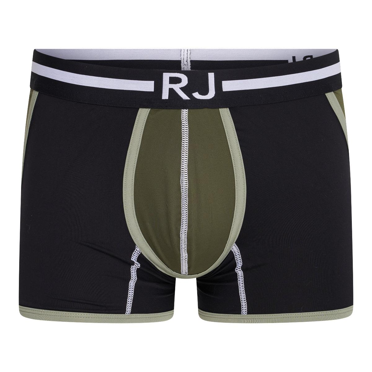 RJ Pure Color Heren Boxershort 'Happy Balls' Donkergroen L