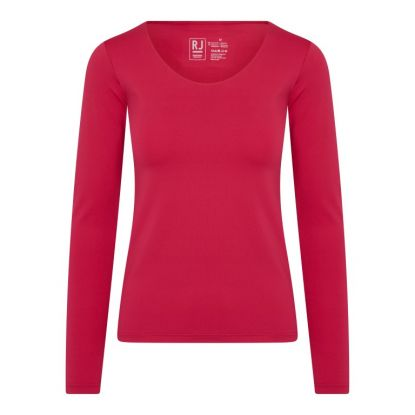 RJ Pure Color Dames Shirt Lange Mouw
