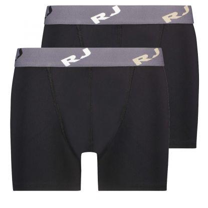 RJ 2-Pack Pure Color Heren Boxershort Zwart