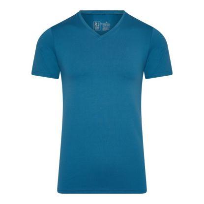 RJ Pure Color Heren V-hals T-Shirt