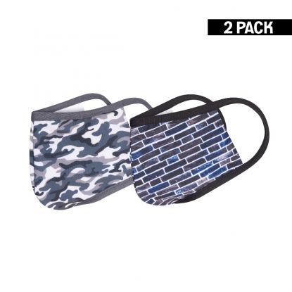 Kids 2-Pack Mondkapjes Camouflage/Wall 10-16 jaar